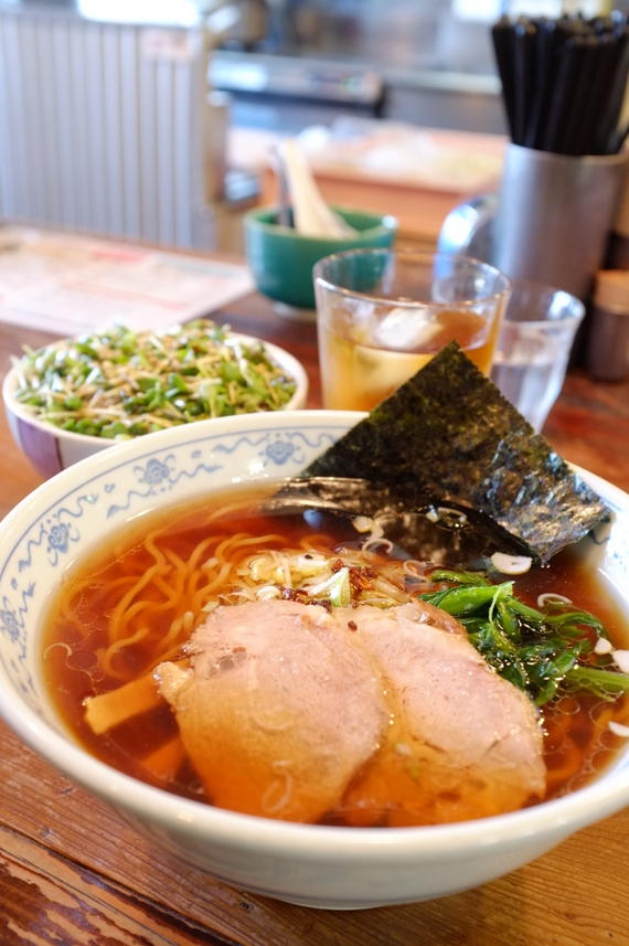 煮干し系醤油ラーメン+チャーシュー丼セット