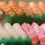 寿にぎり(サーモン、白身魚、トロ)