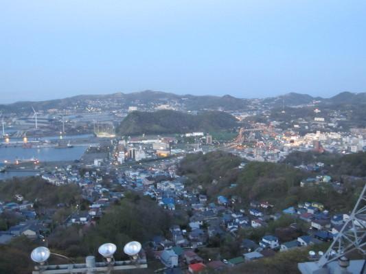 測量山からの景色(中央町方面)