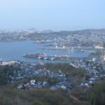 測量山からの景色(室蘭港)