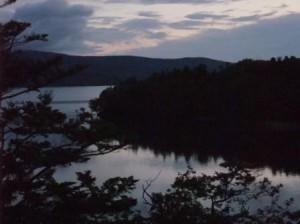 阿寒湖 夜明け前 まだ暗いです