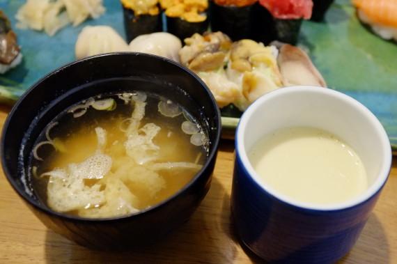 お味噌汁(エビ頭入り)&茶碗蒸し