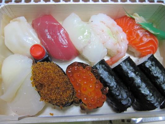 上生鮨 折詰の中w 1800円