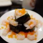 甘えびの山盛り寿司