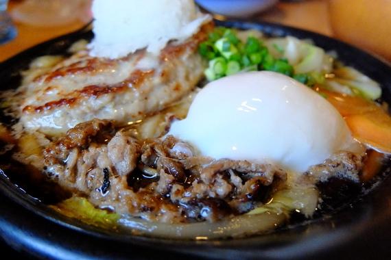 牛鍋風 肉おろしバーグ