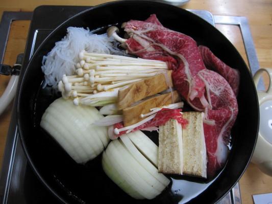 肉鍋牛ロース定食