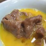 肉鍋牛ロース定食 肉 in 玉子