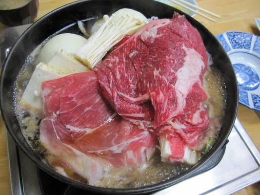 豚鍋+牛鍋