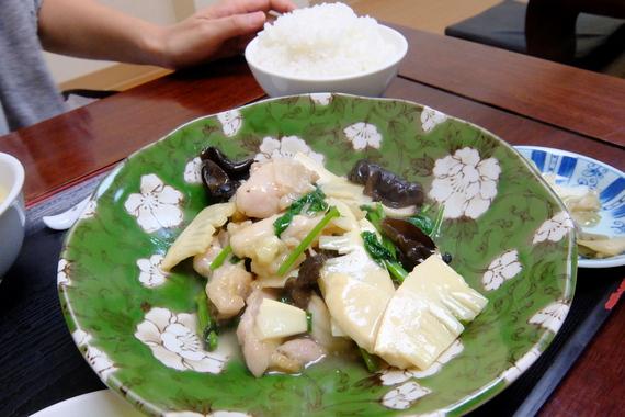 日替ランチ(鶏肉と空芯菜の炒め)