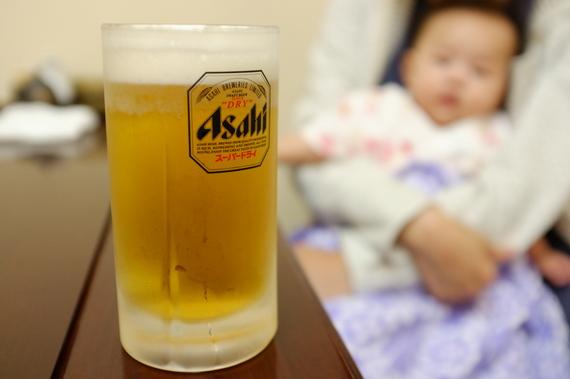 ビールと娘