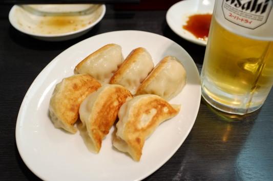 焼き餃子+ビールw