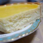 チーズケーキ(ホールを切った断面)