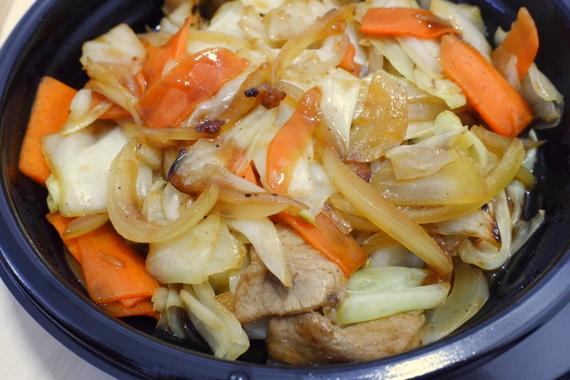 肉野菜炒め弁当(おかずのみ)