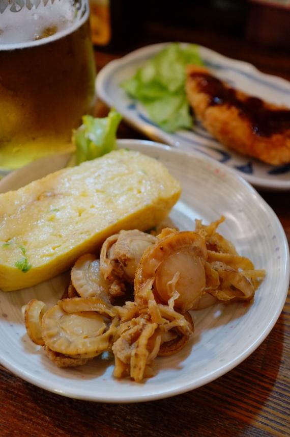 厚焼き玉子・おばんざい(ホタテ稚貝)
