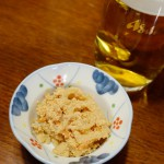 お通し(子和え)&ビール