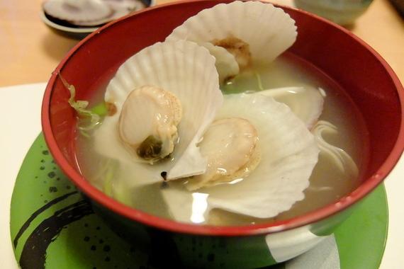 稚貝の味噌汁