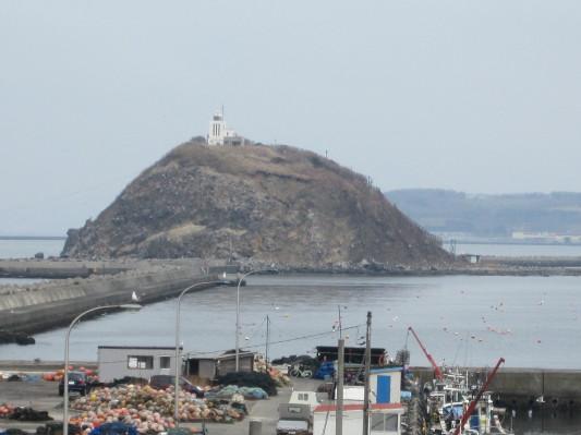 絵鞆漁港からみた大黒島2