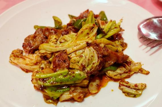 回鍋肉(ゆで豚肉とキャベツの唐辛しみそ炒め)