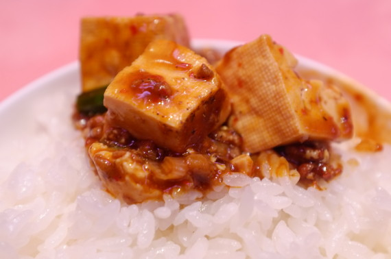 マーボー豆腐 オンザライスw