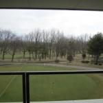 レストラン白鳥(店内の窓から見えるゴルフ場)