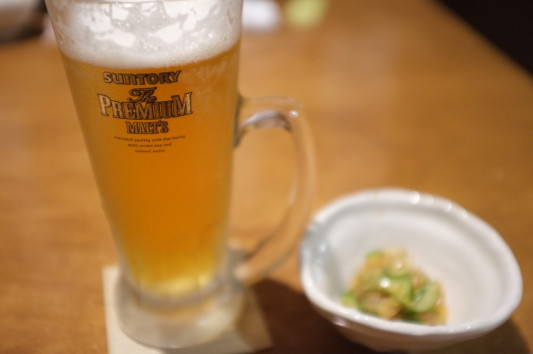 ビール&お通し