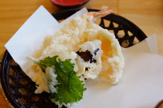 ミニ天婦羅(海老1本、野菜3点)
