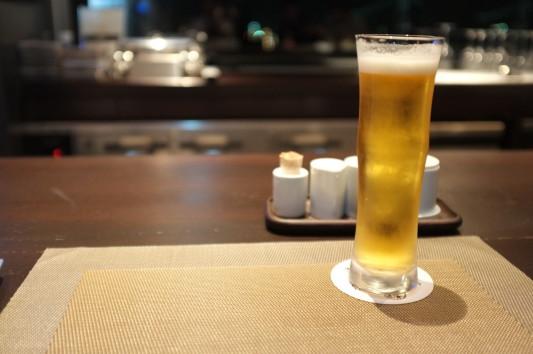 ビール(お洒落なグラスw)
