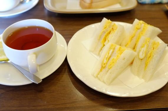 サンドウィッチセット (玉子サンドウィッチ+紅茶)
