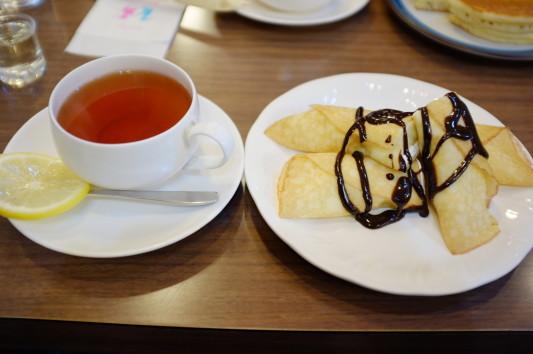 バナナクレープセット(紅茶)