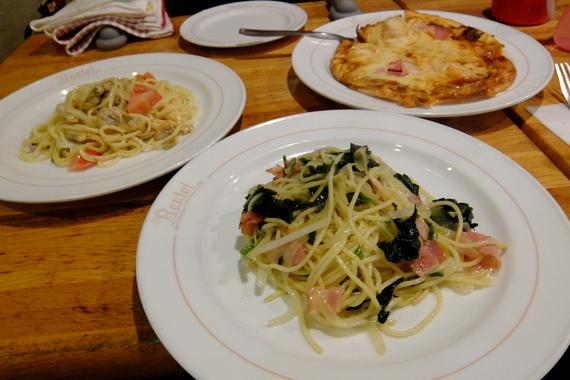 ホウレン草とベーコンのスパゲティ