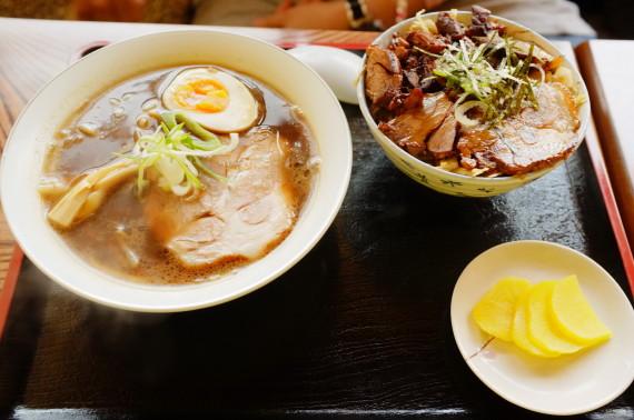 ミニミニセット(ミニ醤油ラーメン+ミニチャーシュー丼)