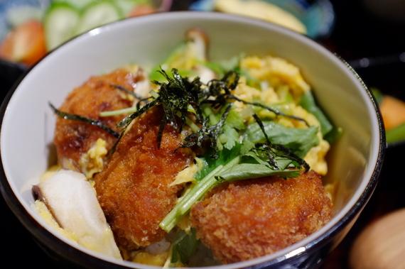 牡蠣フライ卵とじ丼と鯛ソーメンセット