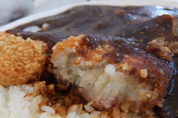カレーライス+肉屋さんのコロッケ