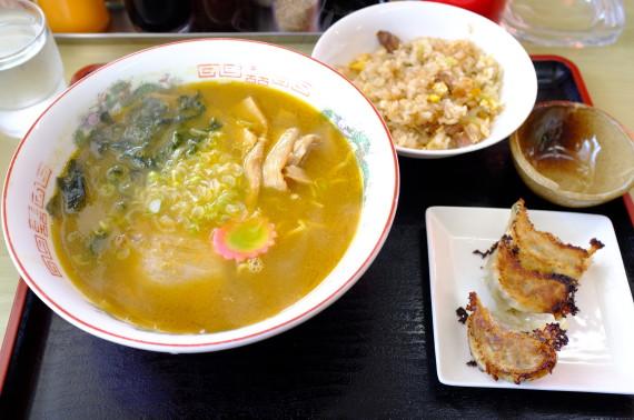 海老カレーラーメン+スペシャルラーメンセット