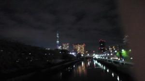 ぶれてる夜景