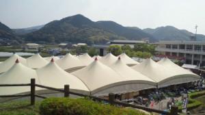 窯広場から眺めたテントいっぱい