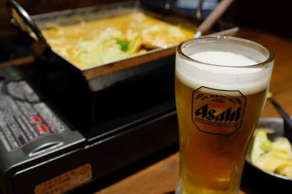 ビールとちりとり鍋