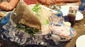 キッチン和にてカワハギ