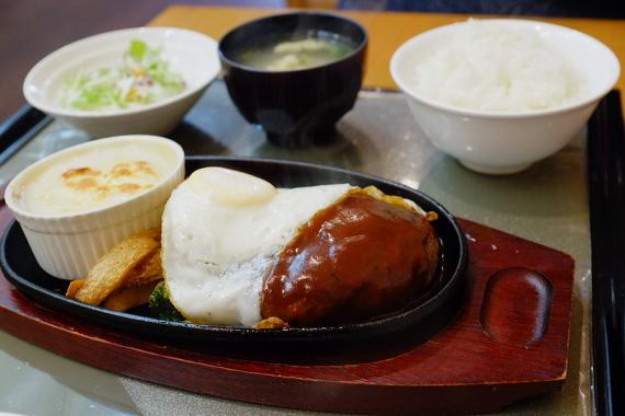 ハンバーグ&グラタン定食