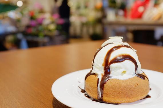 アイスクリーム焼きドーナツ
