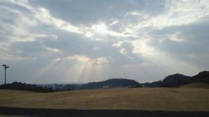 雲間から日差し漏れて@グリーンランド