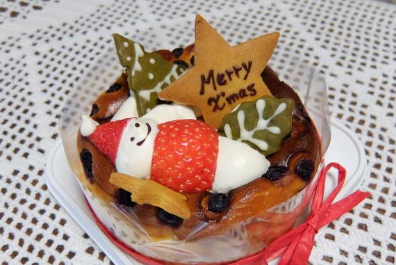 クリスマスケーキ(ベリーベリーチーズケーキ)