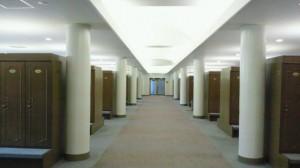 何て広いロッカールーム