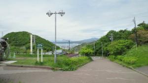 岬から坂道