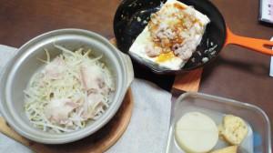 ある日の夕食(豆腐ステーキ)