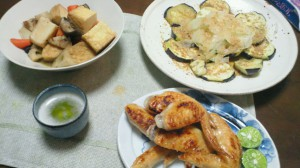 ある日の夕食(鶏手羽先)