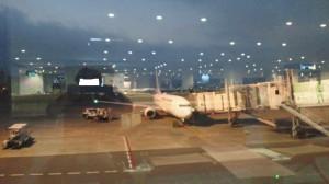 夜明け前の早朝空港
