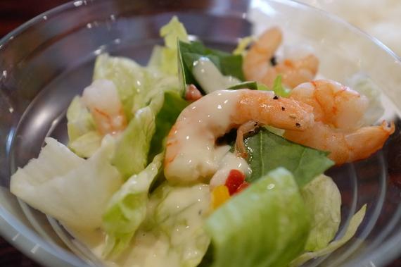 海老のミニシーザーサラダ