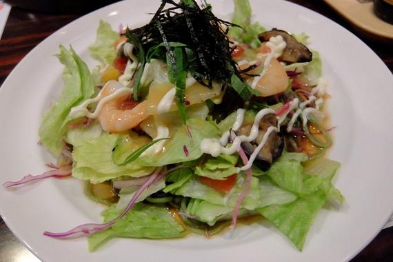 糖質控えめ・海老と野菜のさっぱりサラダ麺