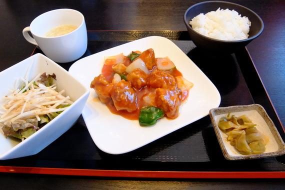 ランチセット(酢豚)